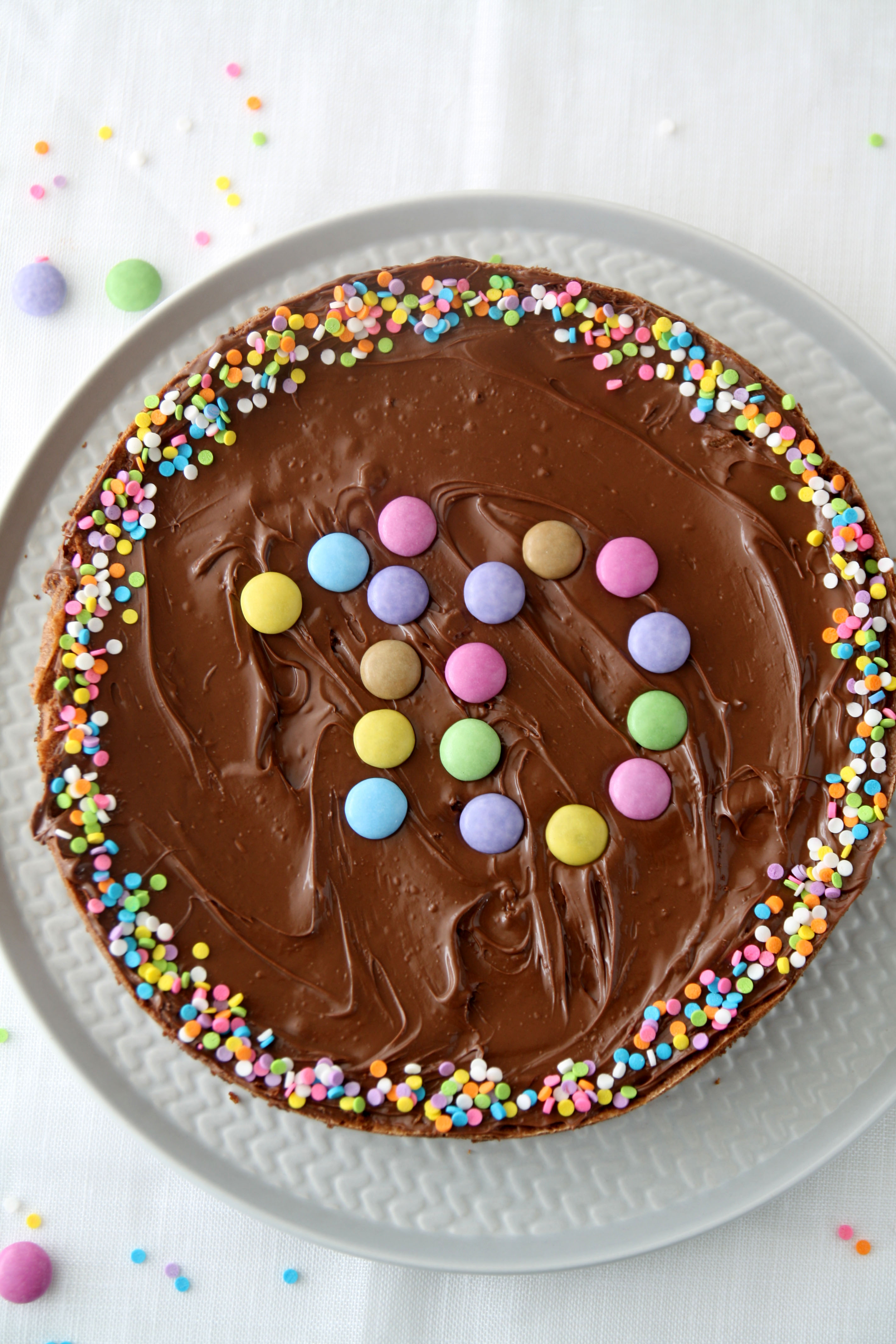 Torta Di Compleanno Al Cioccolato E Nocciolata