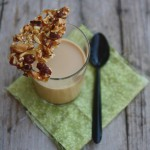 Panna cotta dulce de leche con croccante di frutta secca