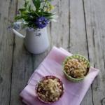 Muffin alle mele e lamponi, streusel ai fiocchi d'avena