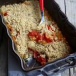 Crumble di pomodori e mozzarella