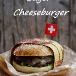 Bagel cheeseburger con cipolle di Tropea, moutarde de Dijon e formaggi svizzeri