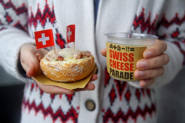 Crema di patate e porri, paninetti con pancetta e Gruyère