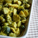 Gratin di cavoletti di Bruxelles al curry