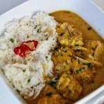 Curry di pesce e scalogno