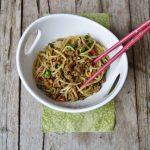 Noodles con carne speziata