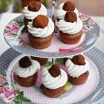 Mini cupcake con tartufi al cioccolato
