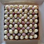 Dessert al pistacchio e lamponi di C. Michalak