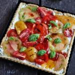 Tarte alla ricotta, pomodori e peperoni