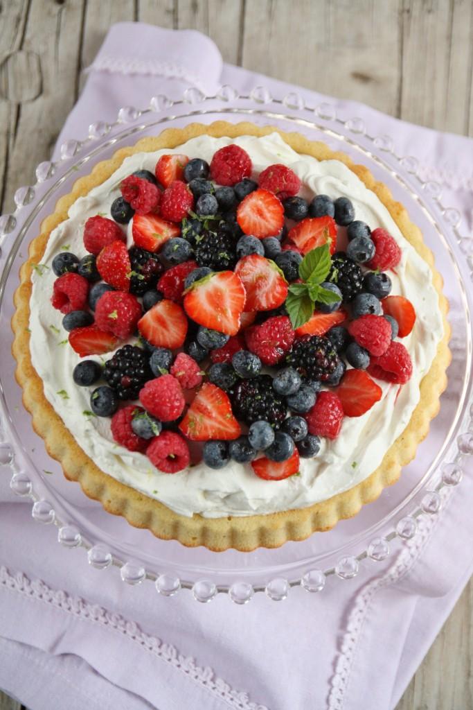 torta ai frutti di bosco e Bombardino