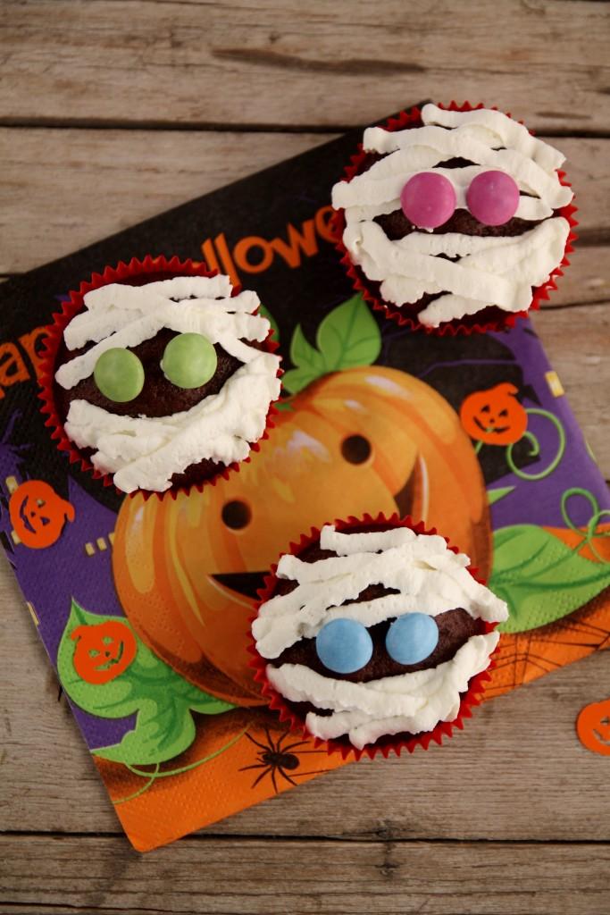 mummia muffin per Halloween