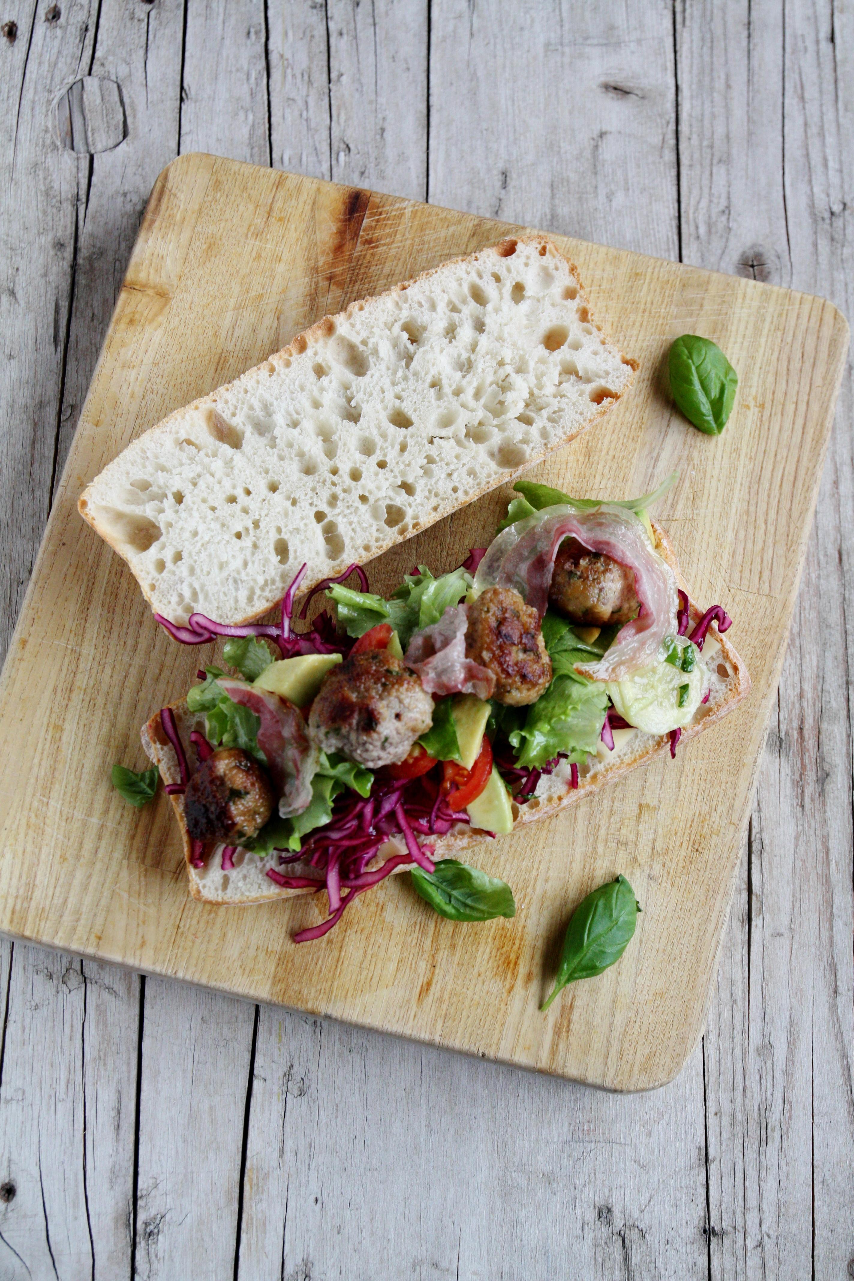 Panino con polpettine e pancetta di Jamie Oliver