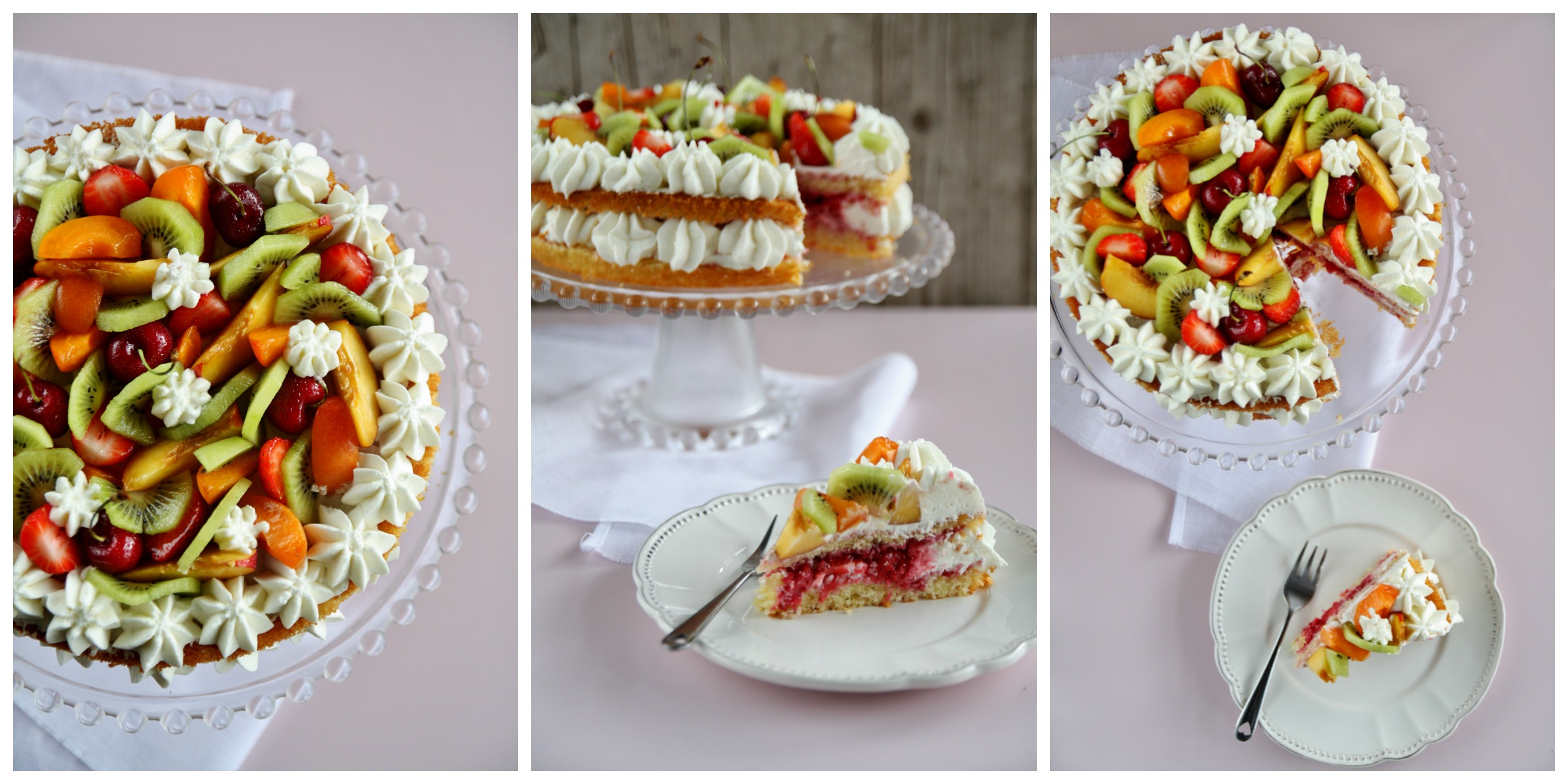 Naked cake Collage