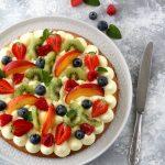 Crostata alla frutta con crema pasticcera al limone