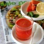 Succo di anguria, basilico e limone
